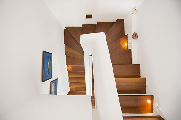 Stairs to upper floor